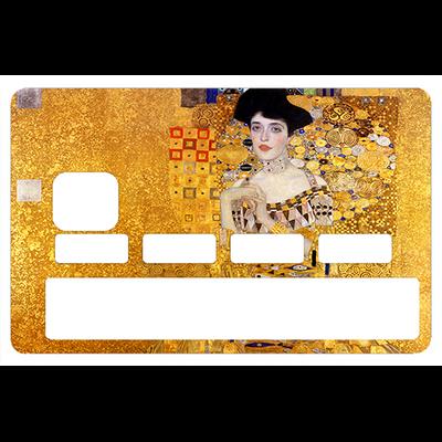 Stickers décoratif pour carte bancaire, le portrait d'Adele Bloch-Bauer  de Gustav Klimt