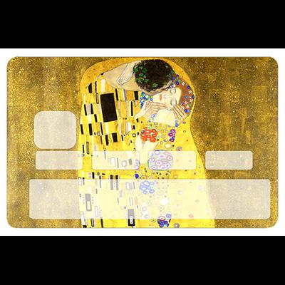 Stickers décoratif pour carte bancaire, le BAISER de Gustav Klimt