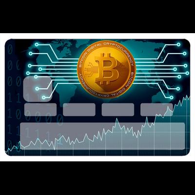 Stickers décoratif pour carte bancaire, BITCOINS, par le DgédeNice