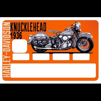 Stickers décoratif pour carte bancaire, Harley KNUKLEHEAD, par le DgedeNice, Edition limitée 300 ex