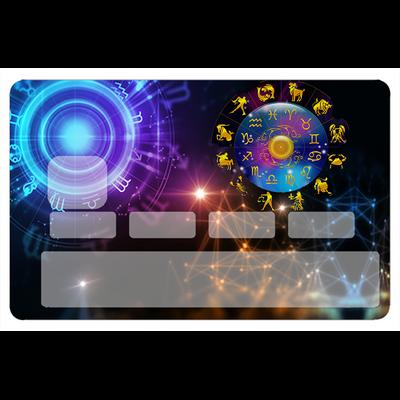 Sticker pour carte bancaire, les signes du zodiaque