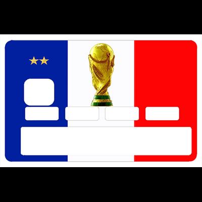Stickers décoratif pour carte bancaire, La France Russie 2018