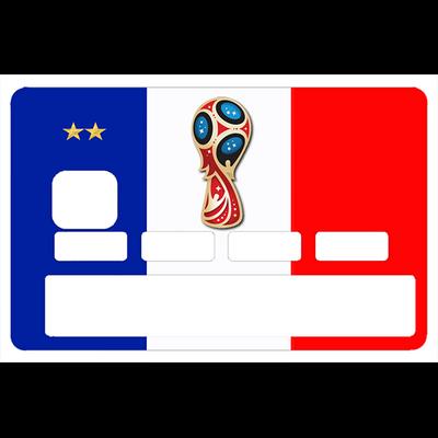 Stickers décoratif pour carte bancaire, coupe du monde Russie 2018