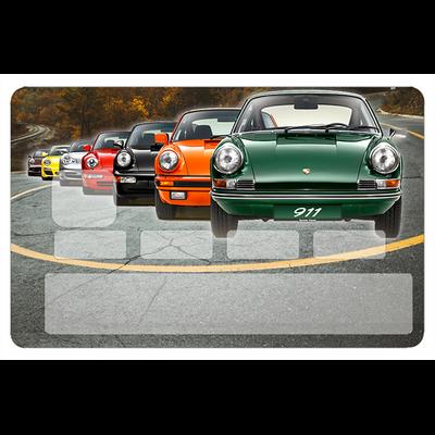 Stickers décoratif pour carte bancaire, Porsche 911 collection