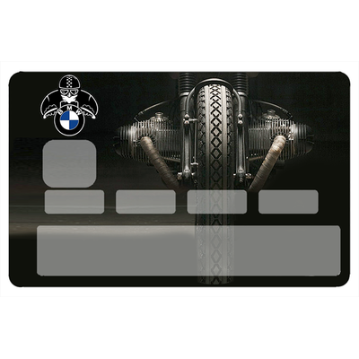 Stickers décoratif pour carte bancaire, Moto BMW