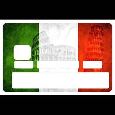Sticker pour carte bancaire, Italie historique