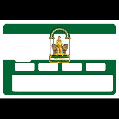 Sticker pour carte bancaire, Drapeau Andalou