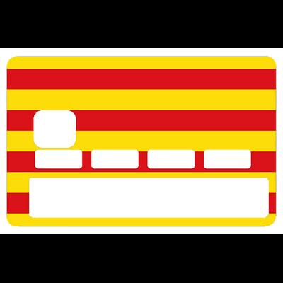 Stickers décoratif pour carte bancaire, Drapeau Catalan