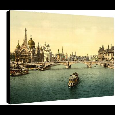 Paris, la seine et l'expo universelle de 1900, Dimensions: 50 cm x 70 cm