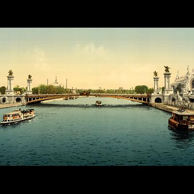 Paris, expo universelle 1900, Dimensions: 50 cm x 70 cm