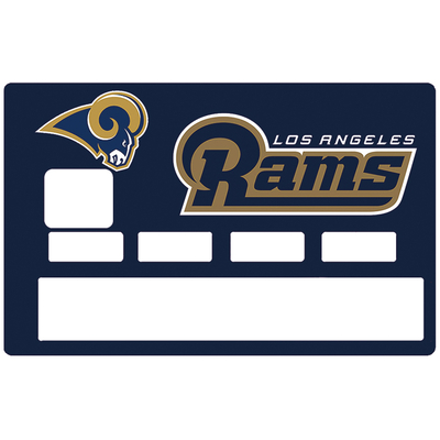 Sticker pour carte bancaire, Tribute to LOS ANGELES RAMS
