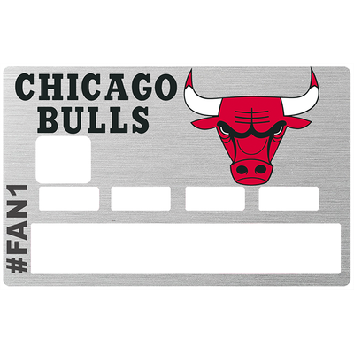 Sticker pour carte bancaire, Tribute to Chicago Bulls