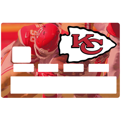 Sticker pour carte bancaire, Tribute to Kansas City Chiefs, Edition limitée 100 ex.