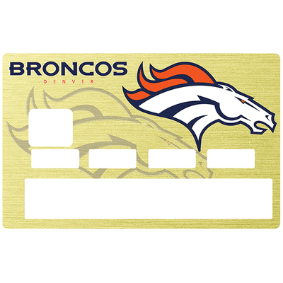 Sticker pour carte bancaire, Tribute to Denver Broncos