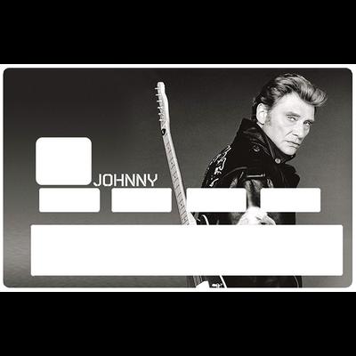 Sticker pour carte bancaire, hommage à Johnny Hallyday N&B, edit. limitée 300 ex