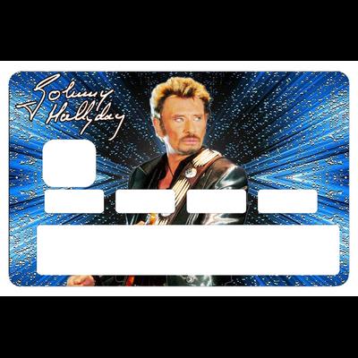 Sticker pour carte bancaire, hommage à Johnny Hallyday, 2 éme edit. limitée 300 ex, 1 sur 300