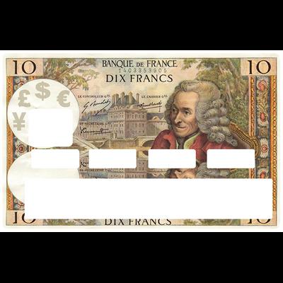 Sticker pour carte bancaire, 10 FRANCS