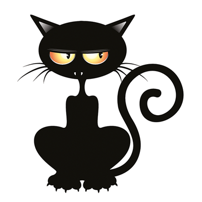 Sticker, autocollant pour MacBook ou ipad, Le chat vampire H.12 cm