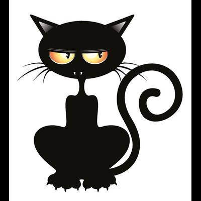 Sticker, autocollant pour MacBook ou ipad, Le chat vampire H.12 cm