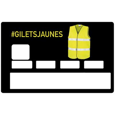 Sticker décoratif pour carte bancaire, #GILETSJAUNES