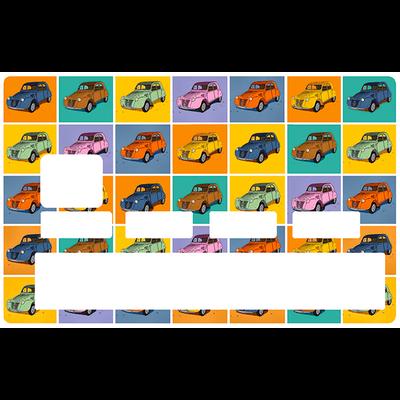Sticker décoratif pour carte bancaire, 2 CV