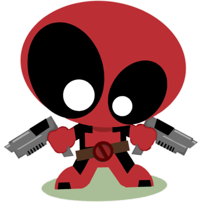 Sticker pour PC, MacBook, Ipad ou autres, FLAT DEADPOOL