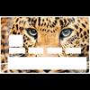 Sticker pour carte bancaire, le leopard