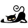 chat vampire allongé