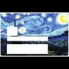 Van Gogh, la nuit etoilée, Sticker pour carte bancaire type ELECTRON