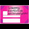 Le shopping a ses raisons que mon banquier ignore, Sticker pour carte bancaire type ELECTRON