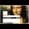 La Joconde de Leonard de Vinci,  Sticker pour carte bancaire type ELECTRON
