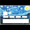 Sticker pour carte bancaire, Hommage à VAN GOGH