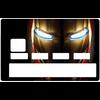 Sticker pour carte bancaire, hommage à Iron Man