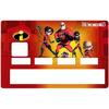 Sticker pour carte bancaire, hommage aux  Indestructibles