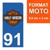 91-HARLEY-DAVIDSON-sticker-plaque-immatriculation-moto-DROIT