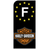 HARLEY-DAVIDSON-NOIR-sticker-pour-plaque-immatriculation-moto-PAYS