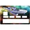 Sticker pour carte bancaire, hommage à Star trek enterprise NCC1701