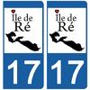 17-ile-de-ré-sticker-plaque-immatriculation-the-little-sticker-fabricant- CHARENTE MARITIME