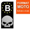 HARLEY-DAVIDSON-SKULL-belgique-noir-sticker-plaque-immatriculation-moto-DROIT