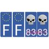 sticker-plaque-immatriculation-BLEU- AUTO-SKULL