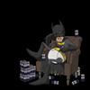 Batman Hangover de Damien Garavagno, 40 cm x 40 cm