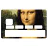 Sticker pour carte bancaire, hommage à La Joconde