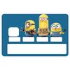 Sticker pour carte bancaire, hommage aux Minions Stupides