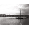 Impression photo sur toile, le port de St Tropez en 1920