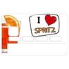 Stickers CB, decoratif, pour carte bancaire, I Love SPRITZ- crée par le DgedeNice
