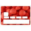 Stickers CB, decoratif, pour carte bancaire, Fraise tagada