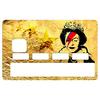 Sticker pour carte bancaire, Bowie Vs Banksy gold