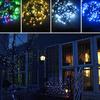 Guirlande lumineuse, SOLAIRE, multicolor 100 LED, eclairage fixe ou clignotant