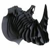 Trophée animalier, Puzzle 3D en carton à monter, Victor le rhinoceros NOIR