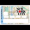 Stickers décoratif pour carte bancaire, NewYork city Subway